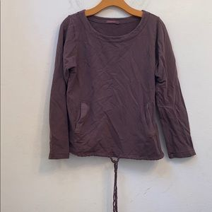 Fresh produce solid brown sweater size xs/s